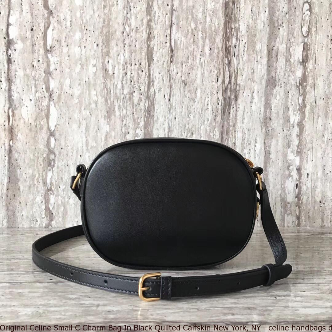 promo codes preview of classic chic Original Celine Small C Charm Bag In Black Quilted Calfskin New York, NY -  celine handbags dupe - 2749