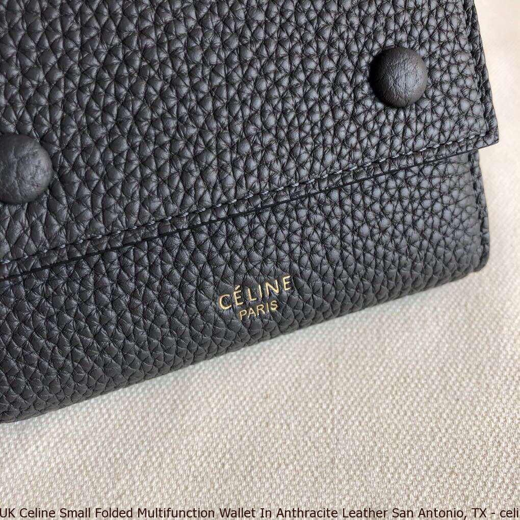 e071f1e170c1 UK Celine Small Folded Multifunction Wallet In Anthracite Leather ...